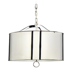 Mid-Century Modern Pendant Light Polished Nickel Porter by Robert Abbey