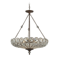 Crystal Pendant Light in Mocha Finish