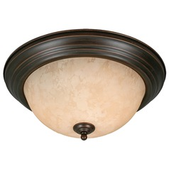 Golden Lighting Rubbed Bronze Flushmount Light
