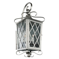 Kalco Trellis Brushed Stainless Steel Outdoor Wall Light