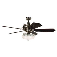 Craftmade Lighting Townsend Polished Nickel Ceiling Fan with Light