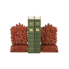 Red Floral Decorative Bookends