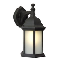 Craftmade Lighting Hex Style Matte Black Outdoor Wall Light