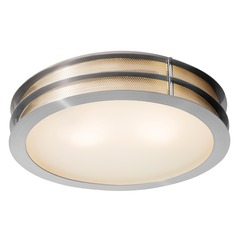 Access Lighting Iron Brushed Steel LED Flushmount Light