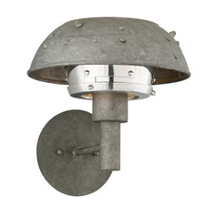 Troy Lighting Idlewild Aviation Gray and Vintage Aluminum LED Sconce