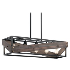 Island Light Black Fulton Cross by Kichler Lighting