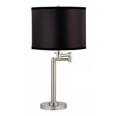 Design Classics Lighting Adjustable Swing-Arm Table Lamp with Black Shade 1902-09 SH9557