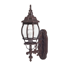 Traditional Outdoor Wall Light with Clear Glass - 20-3/4-Inches Tall