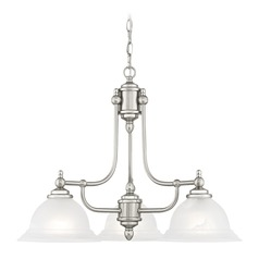 Livex Lighting North Port Brushed Nickel Chandelier