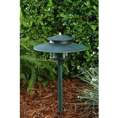 Patina Green Cast Aluminum Path/Walkway/Area Light