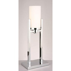 Lite Source Caesarea Chrome Table Lamp with Cylindrical Shade