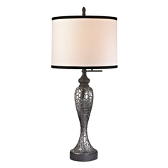 Modern Table Lamp in Charcoal/pewter Finish