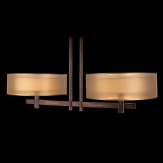 Fine Art Lamps Quadralli Rich Bourbon with Golden Mist Highlights Island Light with Drum Shade
