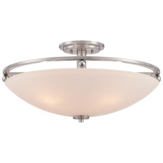 Quoizel Brushed Nickel Semi-Flushmount Light