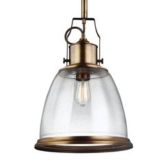 Feiss Hobson Aged Brass Pendant Light