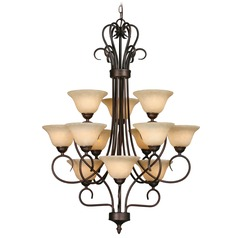 Golden Lighting Rubbed Bronze Chandelier