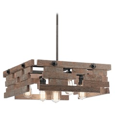 Pendant Light Iron Cuyahoga Mill by Kichler Lighting
