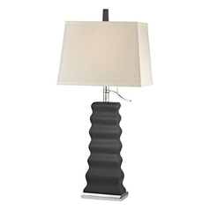 Modern Table Lamp in Chrome/charcoal (highlighted) Finish