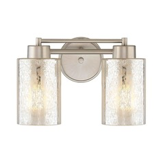 Mercury Glass Bathroom Light Satin Nickel