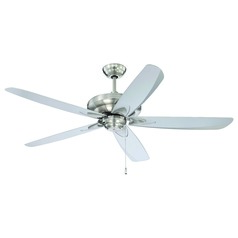 Craftmade Lighting Zena Stainless Steel Ceiling Fan Without Light