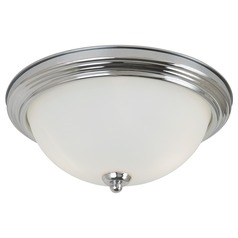 Sea Gull Lighting Ceiling Flush Mount Chrome Flushmount Light