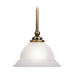 Livex Lighting North Port Antique Brass Mini-Pendant Light