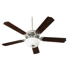 Quorum Lighting Capri IIi Satin Nickel Ceiling Fan with Light