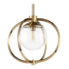 Craftmade Lighting Piltz Satin Brass Mini-Pendant Light with Globe Shade