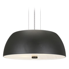 Eglo Ryan Black Pendant Light with Bowl / Dome Shade