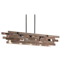 Linear Pendant Light Iron Cuyahoga Mill by Kichler Lighting
