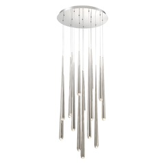 Cascade Crystal LED Round Chandelier