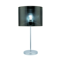 Lite Source Lighting Lanza Chrome Table Lamp with Drum Shade