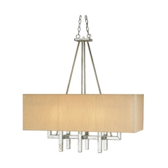 Modern Pendant Lights in Silver Granello Finish