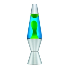 Yellow & Blue Lava Lamp - 11-1/2-Inches Tall