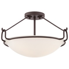 Quoizel Western Bronze Semi-Flushmount Light