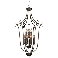 Golden Lighting Rubbed Bronze Pendant Light