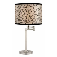 Design Classics Lighting Pauz Swing Arm Table Lamp with Honeycomb Lamp Shade 1902-09 SH9503