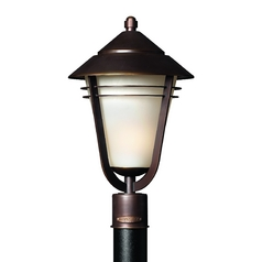Hinkley Lighting Post Light with White Glass in Metro Bronze Finish 2281MT