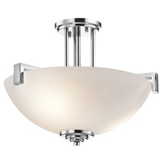 Kichler Lighting Eileen Chrome Semi-Flushmount Light