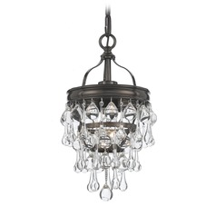 Crystorama Lighting Calypso Vibrant Bronze Mini-Pendant Light