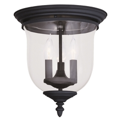 Livex Lighting Legacy Black Flushmount Light