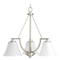 Progress Lighting Bravo Brushed Nickel Mini-Chandelier