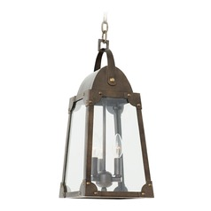 Kalco Arlington Aged Bronze Outdoor Hanging Light