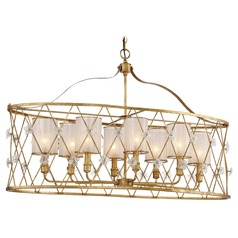 Victoria Park Elara Gold Island Light with Cylindrical Shade