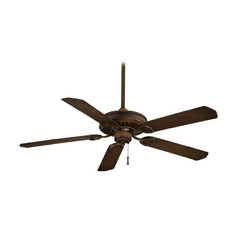 54-Inch Ceiling Fan Without Light in Mossoro Walnut Finish