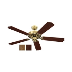 Ceiling Fan Without Light in Polished Brass Finish