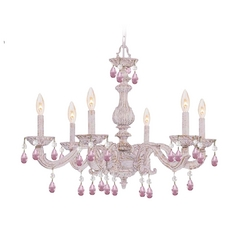 Crystal Chandelier in Antique White Finish