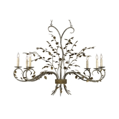 Chandelier in Viejo Gold / Viejo Silver Finish