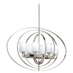 Progress Lighting Equinox Polished Nickel Pendant Light with Cylindrical Shade