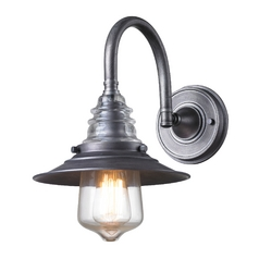 Sconce Wall Light in Weathered Zinc Finish